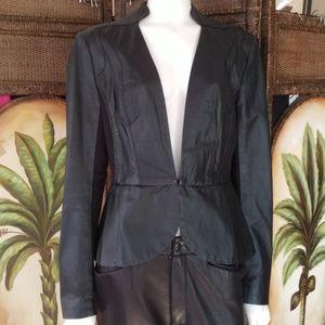 Bebe Leather side gusset jacket